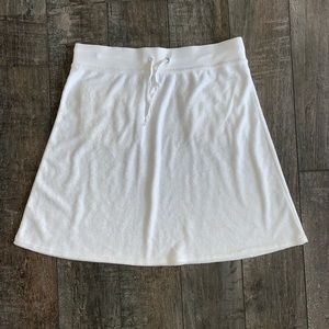 Athleta Terry Cloth Drawstring Mini Skirt
